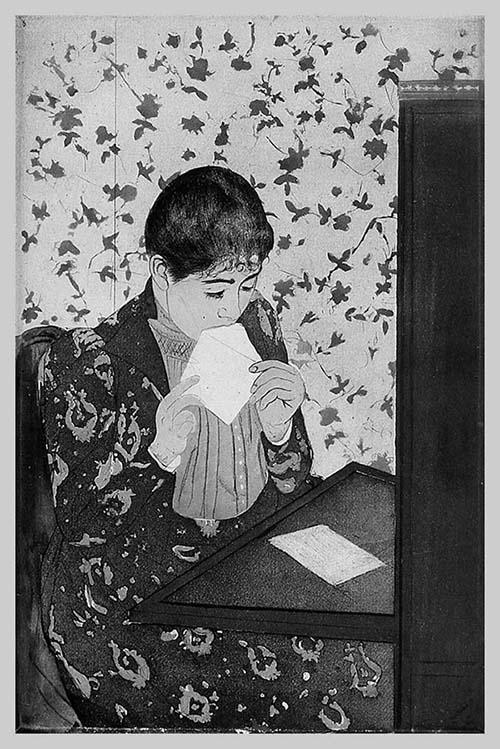 mary cassat-the-letter-1891