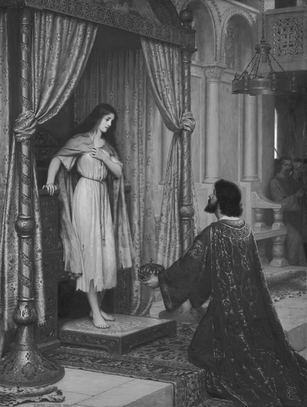 Edmund Blair Leighton - The King and the Beggar-maid, 1898.