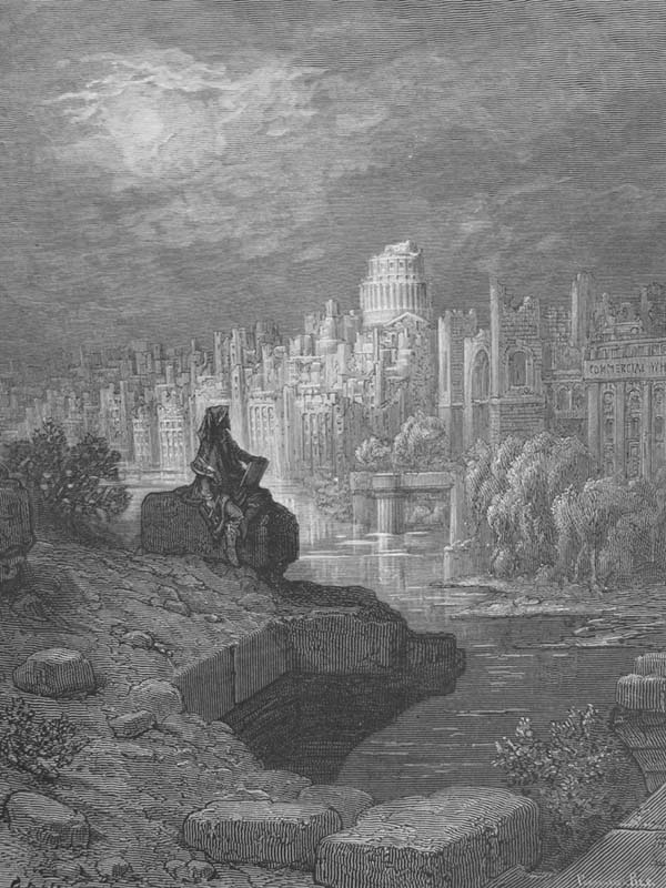 Gustave Doré - The New Zealander, frontispiece to 'London, a Pilgrimage', 1872.