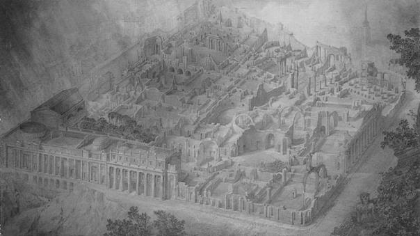 Joseph Gandy - Bank of England as a ruin, 1830.